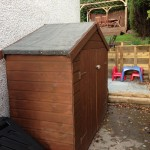 Shed stained