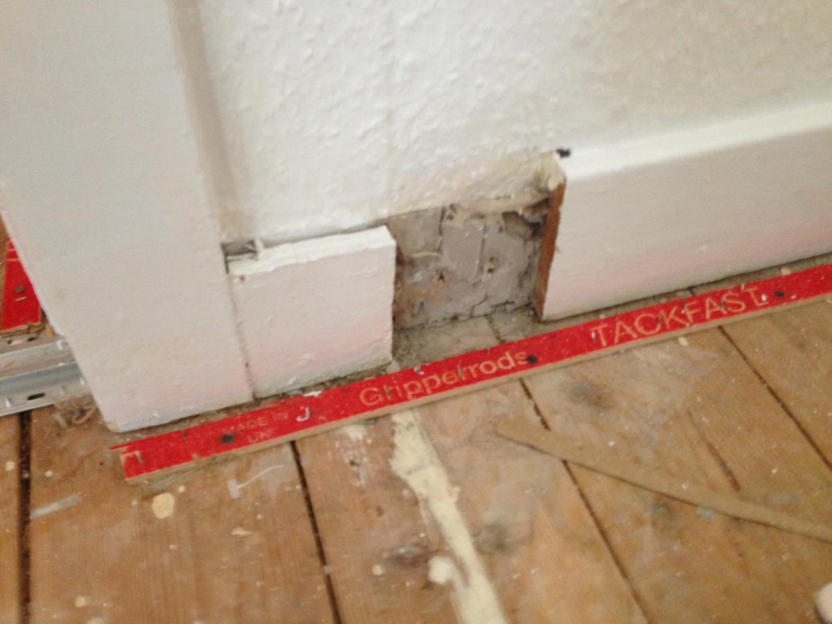 A piece of skirting to fit