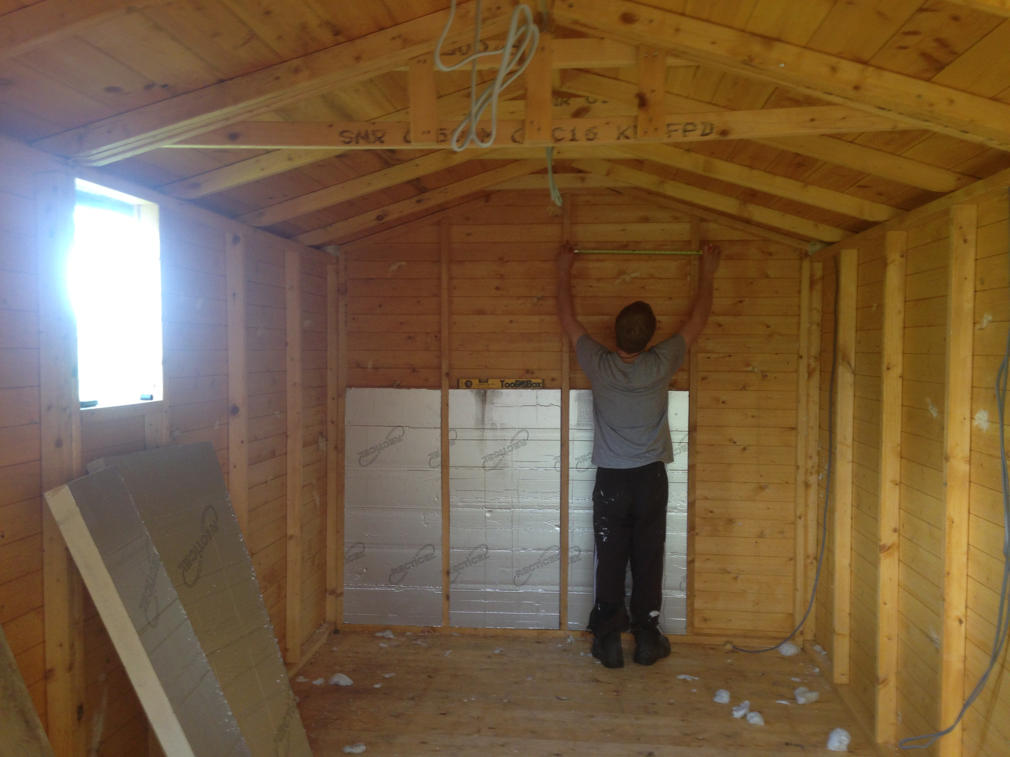 Shed insulation - phase 1, measurements