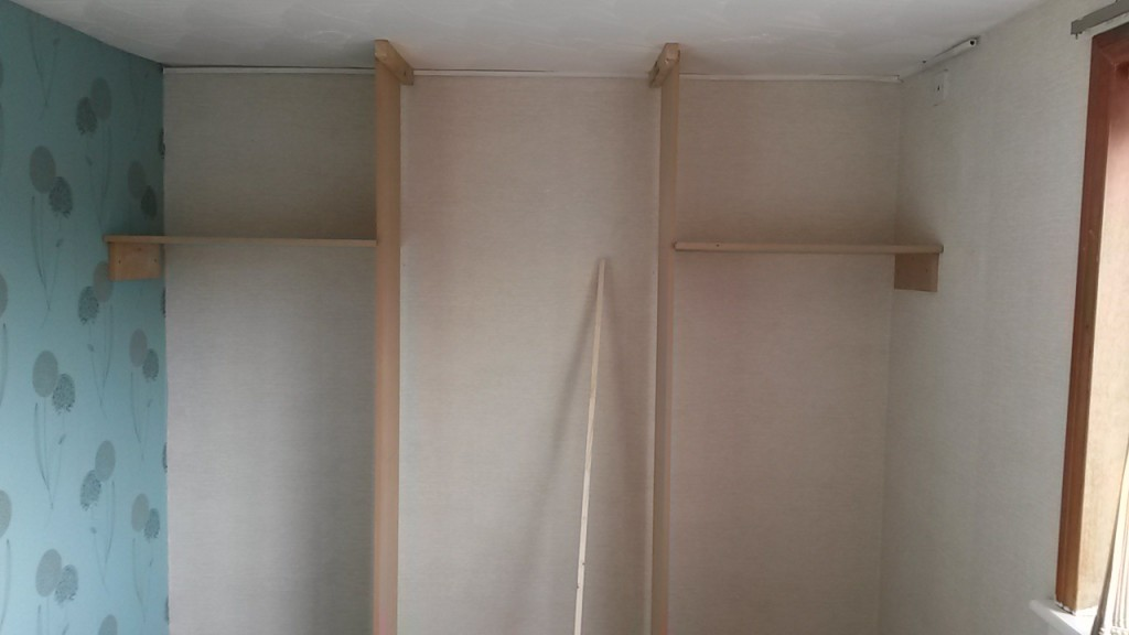New wardrobe shelving