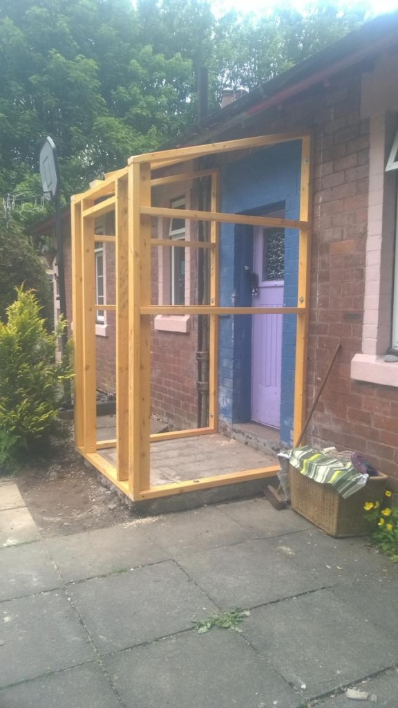 Frame of the new Porch
